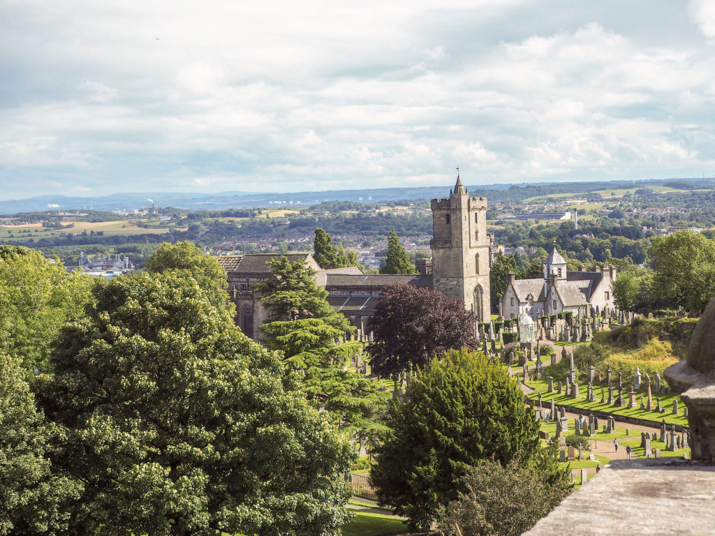 view from stirling castle on discover scotland tour
