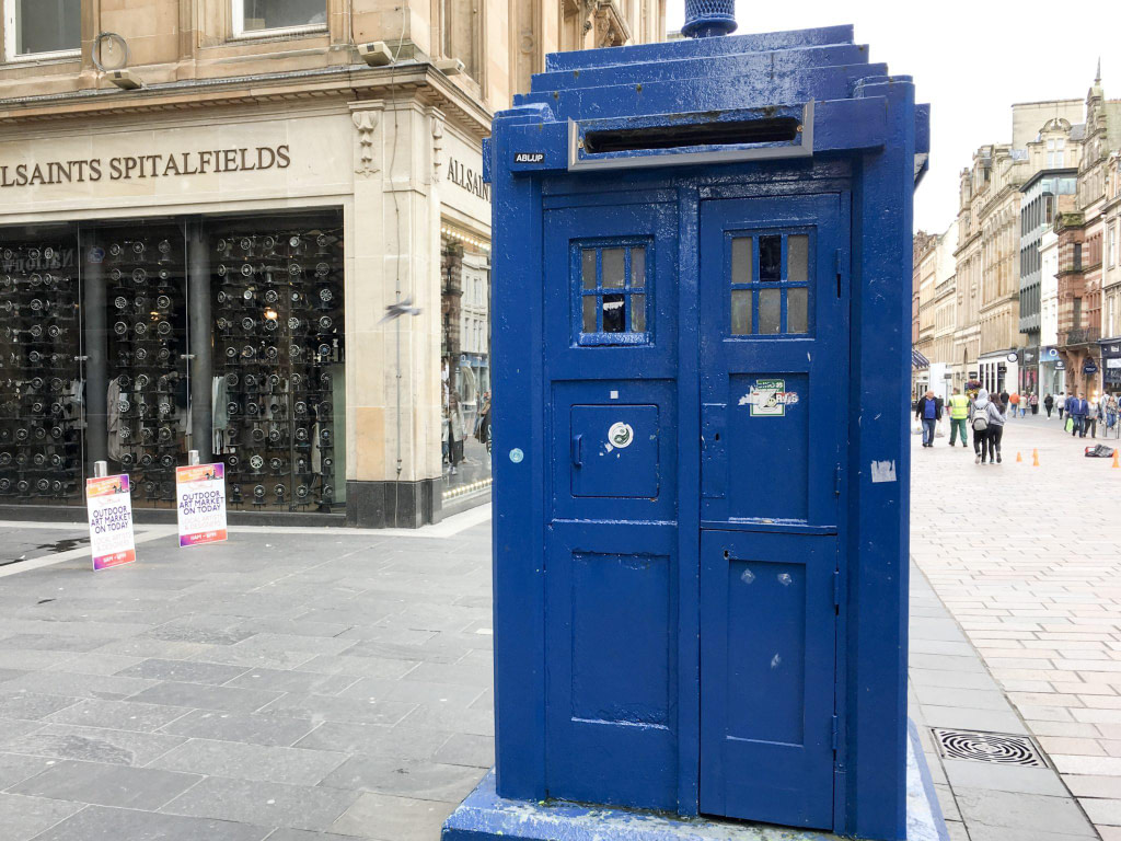 police box people make glasgow