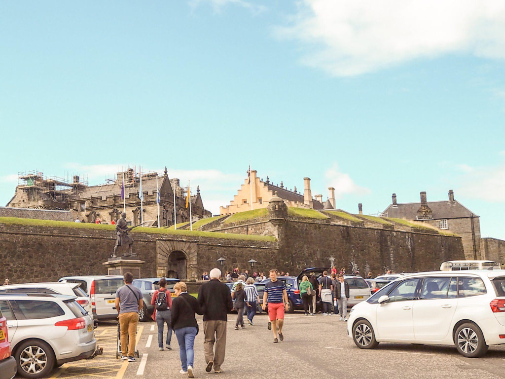 view of stirling castle scotland from carpark