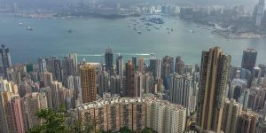 view of city from victoria peak Hong Kong