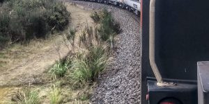 Northern Explorer train on raurimu spiral