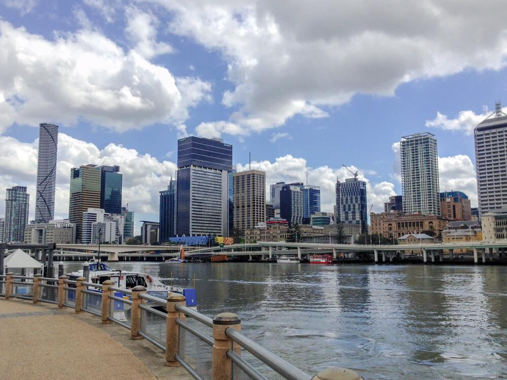 Brisbane buildings from river