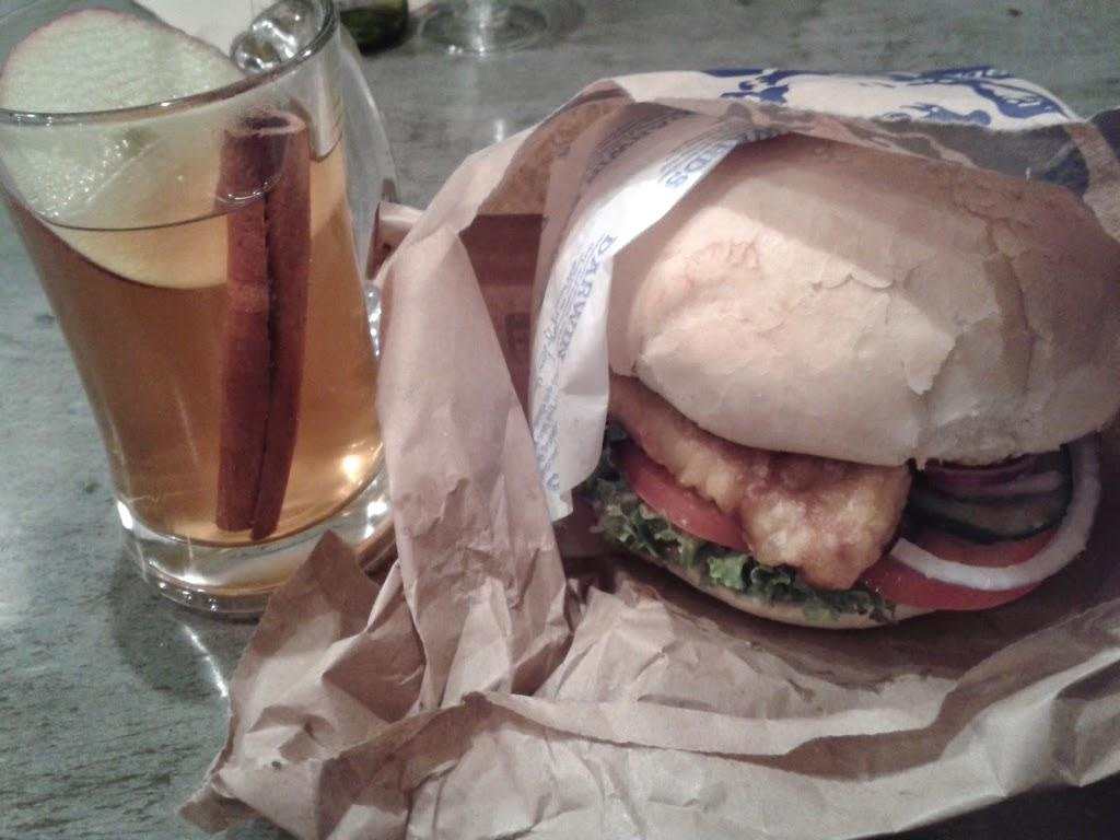 Fergburger and mulled cider Queenstown New Zealand