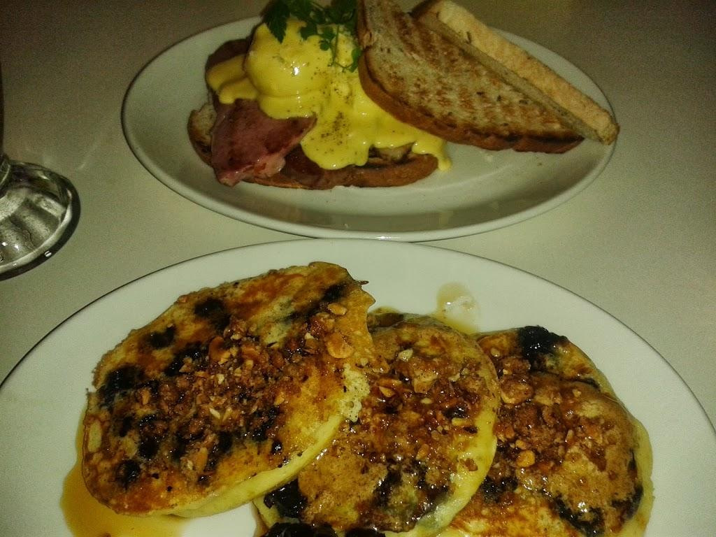 pancakes and eggs benedict at the fed auckland