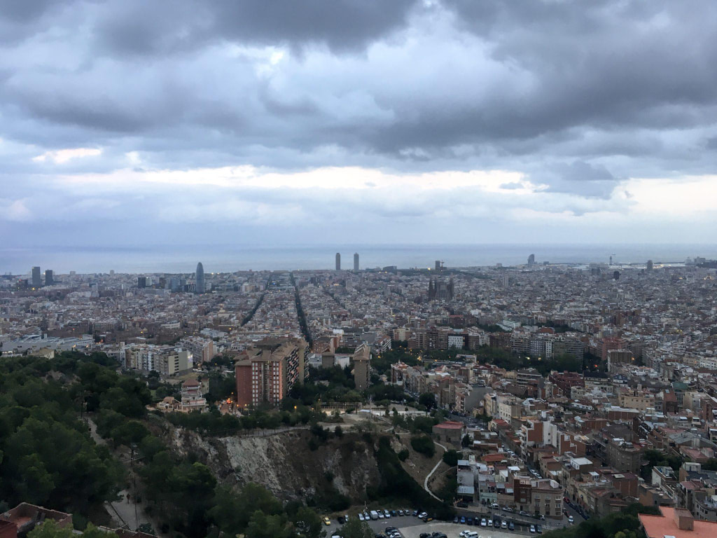 Bunkers del carmel view barcelona from heights