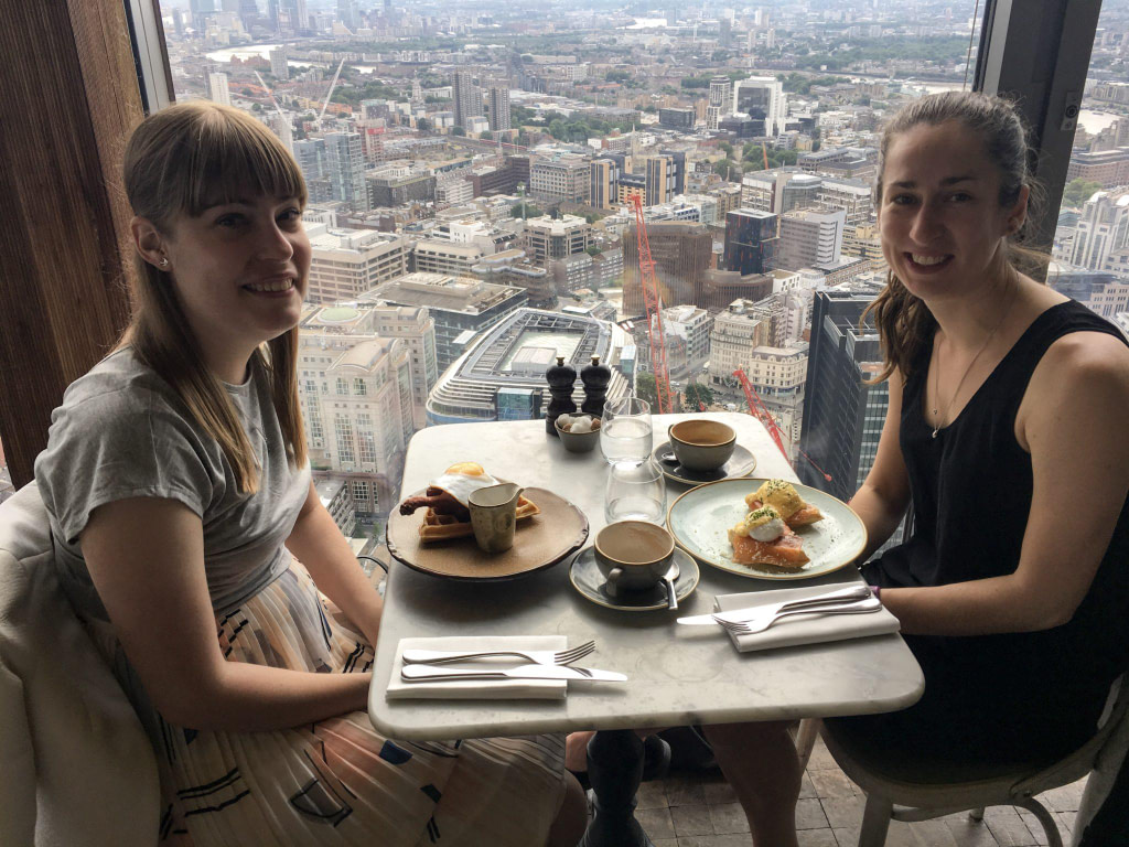 london from heights duck and waffle