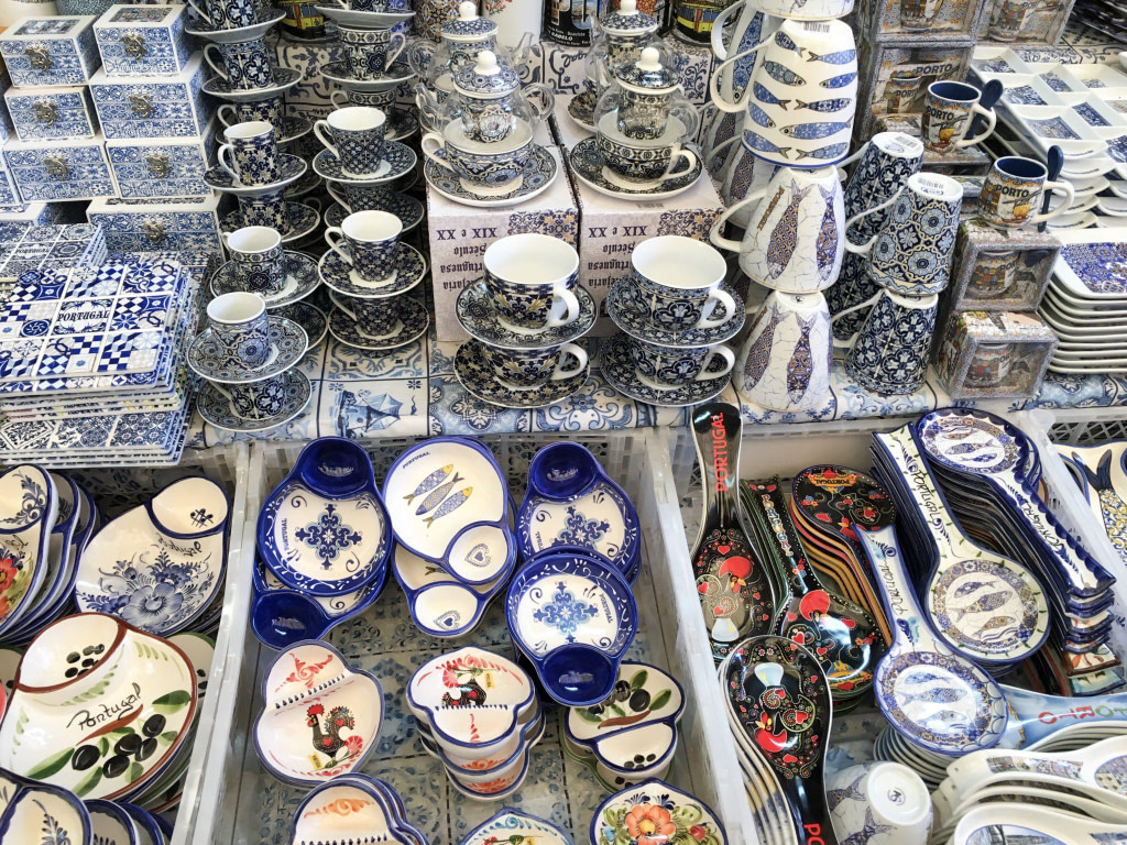 crockery on sale at market in Porto must see sites in Porto