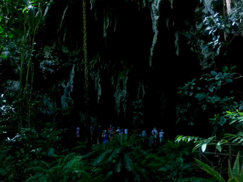 Oumagne Grotto or the Grotto of Queen Hortense on Isle of Pines New Caledonia