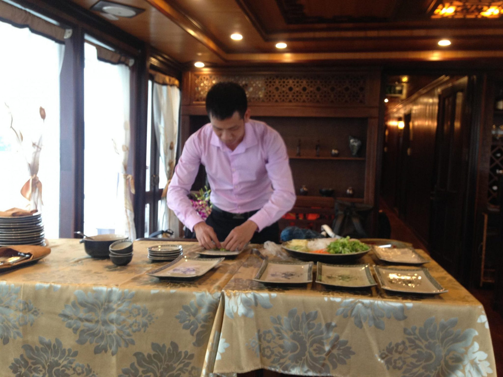 Cooking demonstration Halong Bay