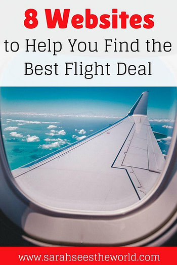 Pinterest pin with airline wing in clouds best flight aggregator
