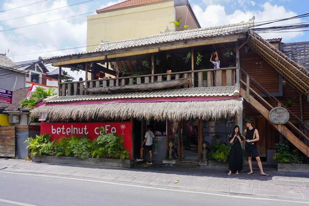 Exterior of Betelnut Cafe Canggu from street