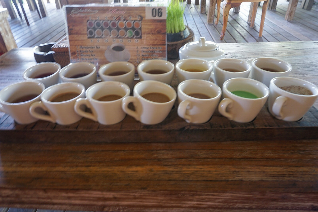 teas and coffee at Lewark coffee plantation in Bali
