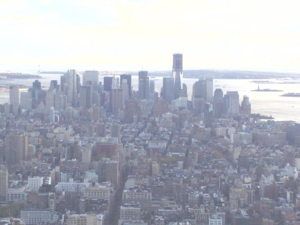 Empire State Building view by day