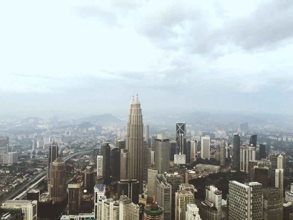 view one day in kuala lumpur from tower
