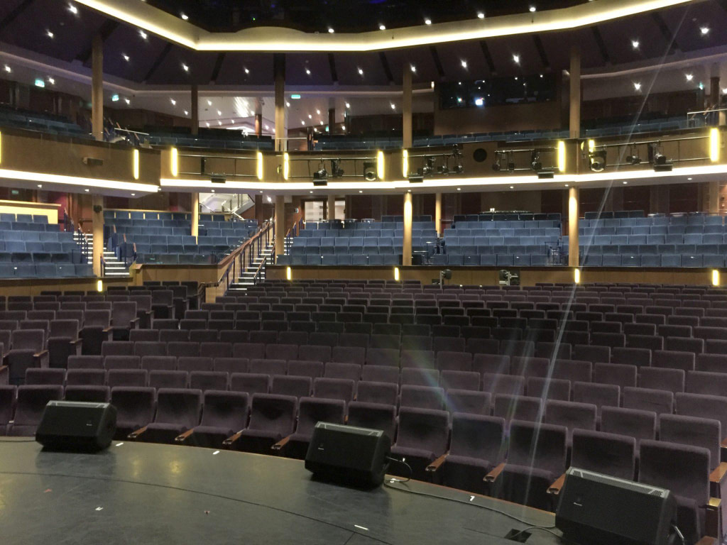 theatre interior on Ovation of the Seas cruise ship