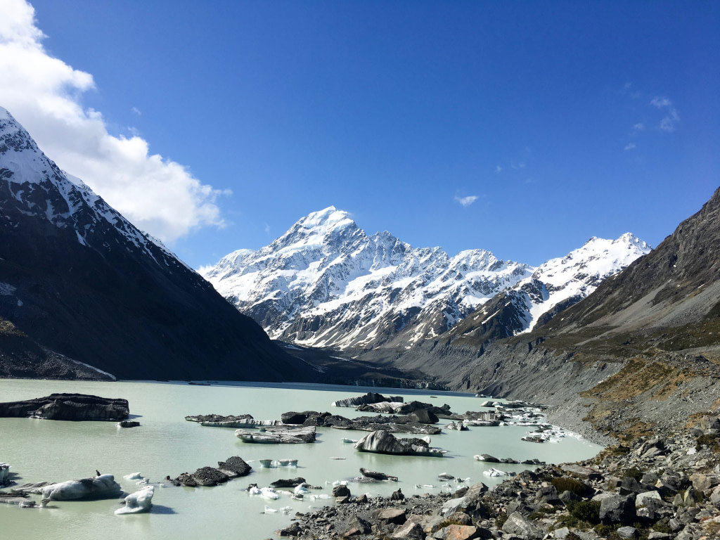 End of Hooker Valley Track Hike