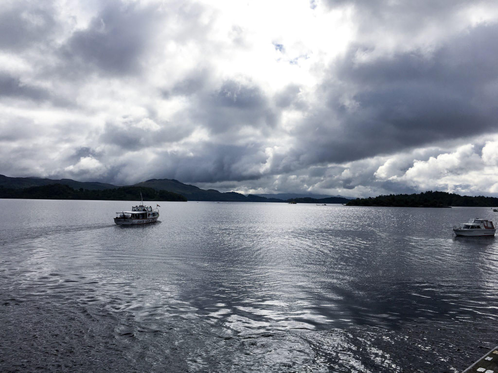 boats on loch scotland