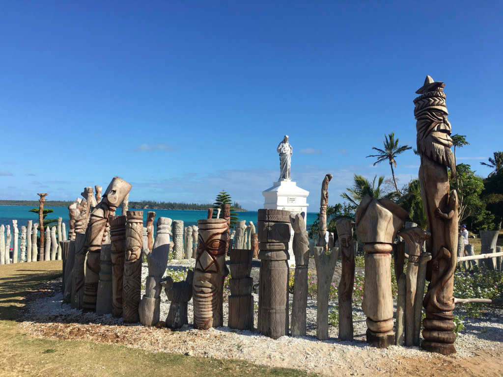 Saint Maurice Bay Woodcarvings on Isle of Pines New Caledonia