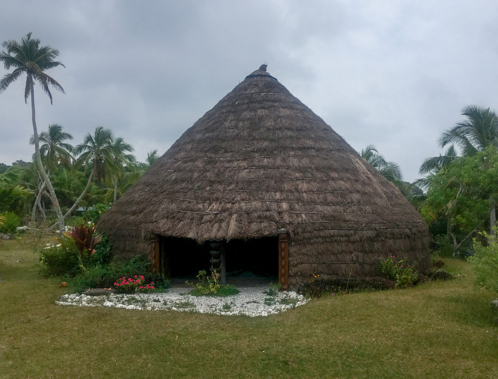 a traditional hut on the island of lifou