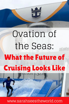 ovation of the seas: what the future of cruising looks like pinterest graphic