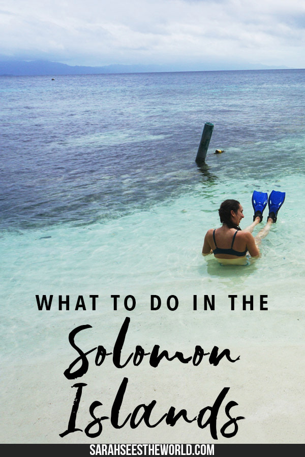 things to do in the solomon islands
