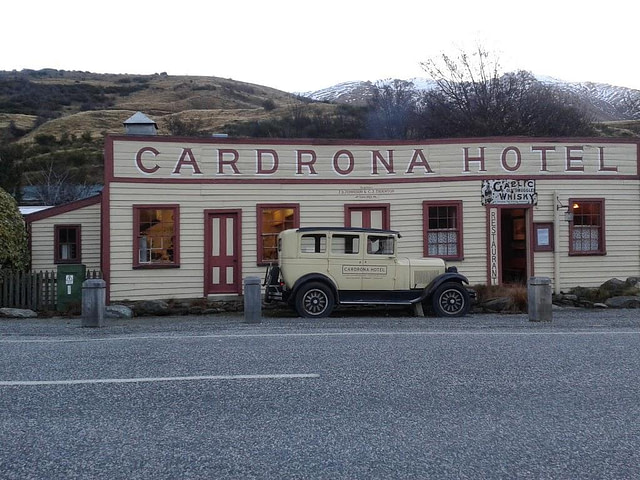 Cardrona Hotel photographed from carpark South Island New Zealand